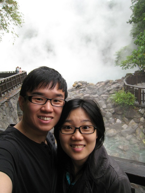 Donn and LiShya @ the hot springs